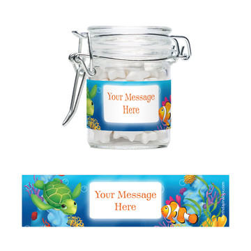Ocean Party Personalized Glass Apothecary Jars (12 Count)
