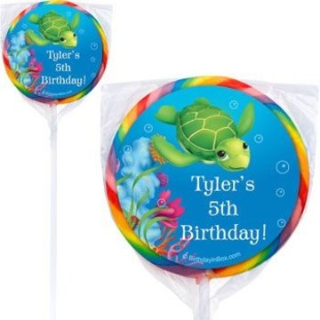 Ocean Party Personalized Lollipops (pack of 12)