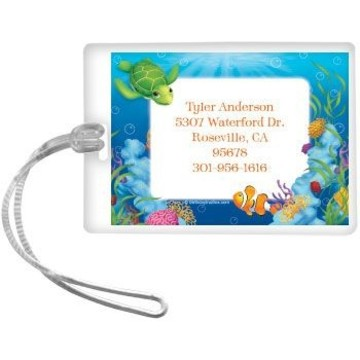 Ocean Party Personalized Luggage Tag (each)