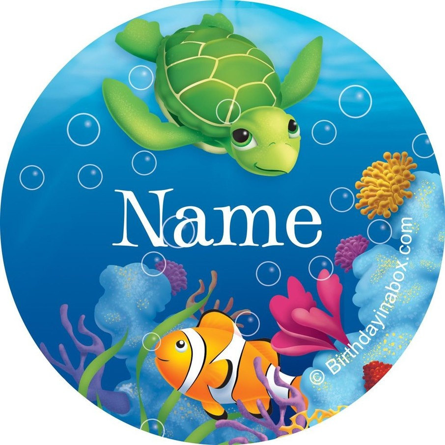 View larger image of Ocean Party Personalized Mini Stickers (Sheet of 24)