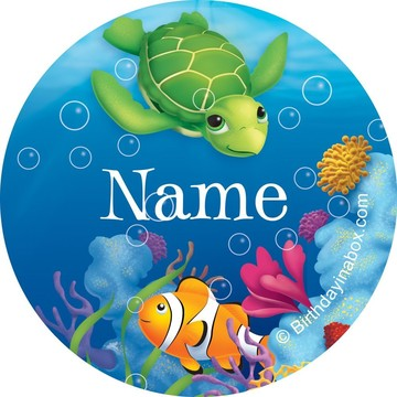 Ocean Party Personalized Mini Stickers (Sheet of 24)
