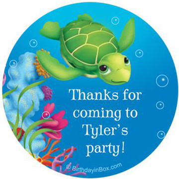 Ocean Party Personalized Stickers (sheet of 12)