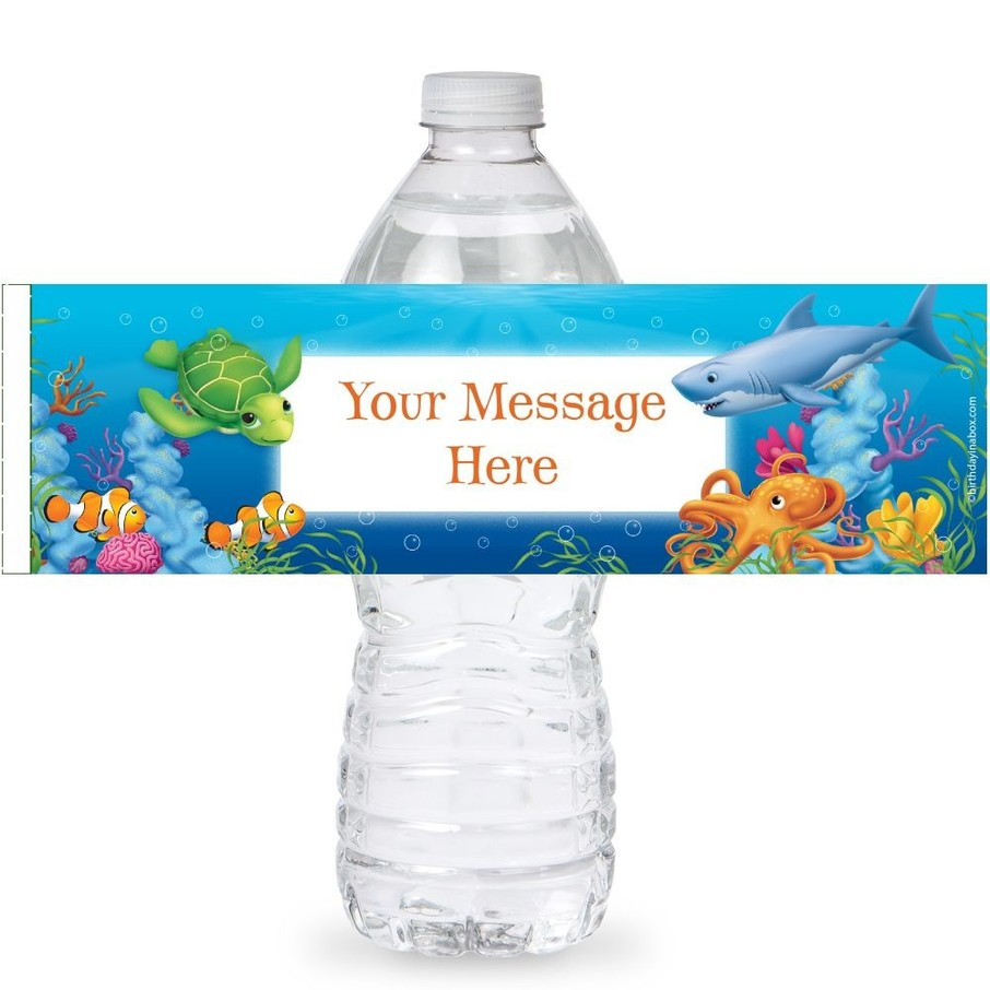 View larger image of Ocean Personalized Bottle Labels (Sheet of 4)