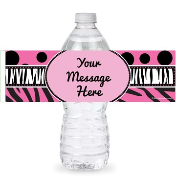 Oh So Fabulous Personalized Bottle Labels (Sheet of 4)