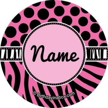 Oh So Fabulous Personalized Mini Stickers (Sheet of 24)