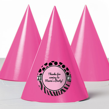 Oh So Fabulous Personalized Party Hats (8 Count)