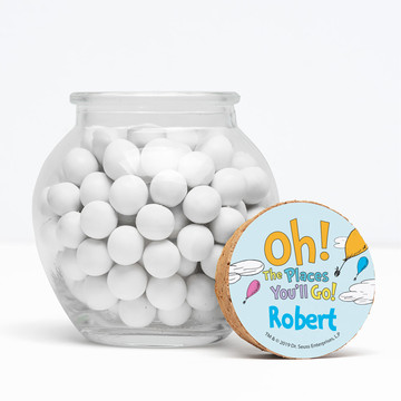"""Oh The Places You'll Go Personalized 3"""" Glass Sphere Jars, 12ct"""