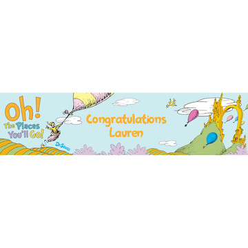 Oh The Places You'll Go Personalized Banner, Each