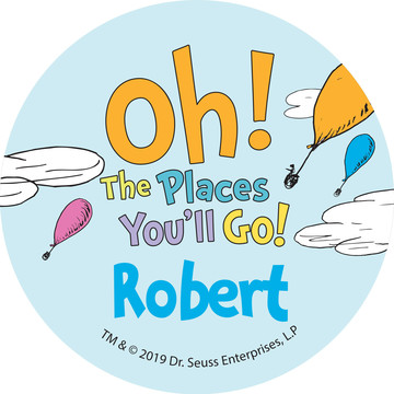 Oh The Places You'll Go Personalized Mini Stickers,Sheet of 24