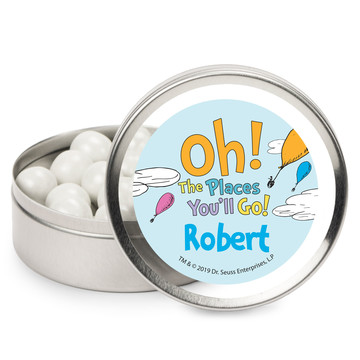 Oh The Places You'll Go Personalized Mint Tins, 12ct