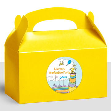 Oh The Places You'll Go Personalized Treat Favor Boxes, 12ct
