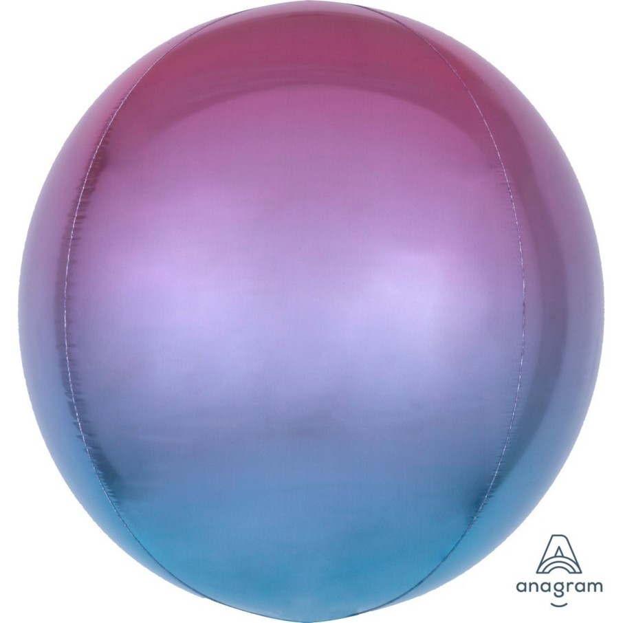 View larger image of Ombre 16 Orbz Balloon - Purple/Blue