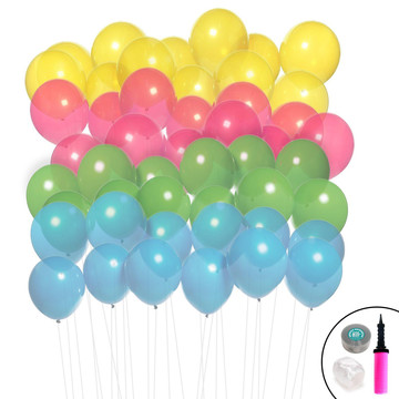 Ombre Balloon Kit (Aqua, Lime, Hot Pink Yellow)