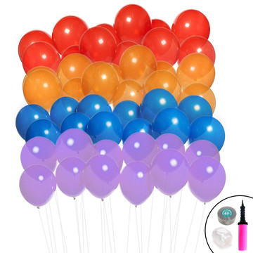 Ombre Balloon Kit (Blue, Purple, Red Orange)