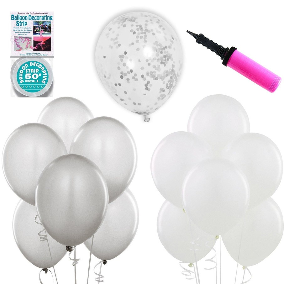 View larger image of Ombre Balloon Kit - Silver White