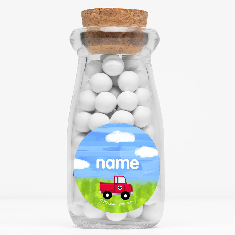 """View larger image of On The Go Personalized 4"""" Glass Milk Jars (Set of 12)"""