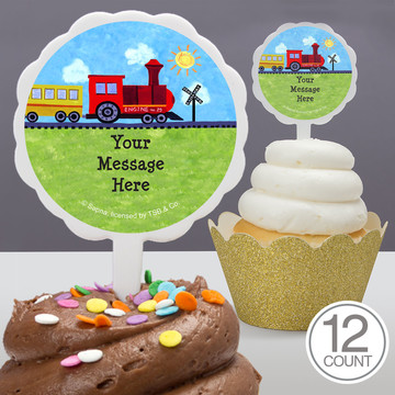On the Go Personalized Cupcake Picks (12 Count)