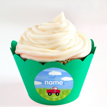 On the Go Personalized Cupcake Wrappers (Set of 24)
