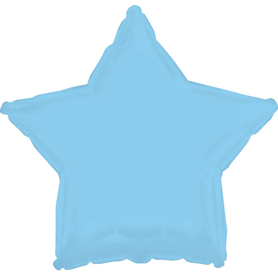 View larger image of Opalescent Light Blue Star Foil Balloon