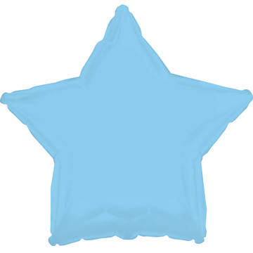 Opalescent Light Blue Star Foil Balloon