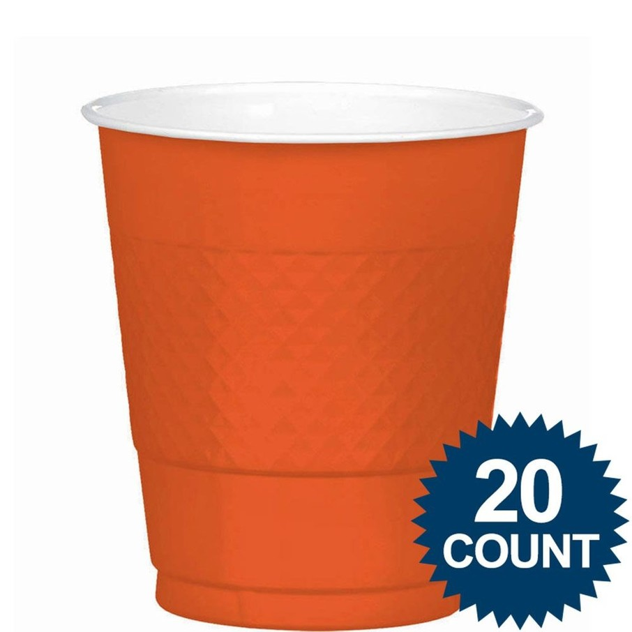 View larger image of Orange 12oz. Plastic Cups (20 Pack)