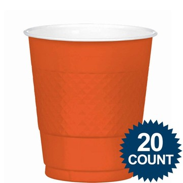 Orange 12oz. Plastic Cups (20 Pack)