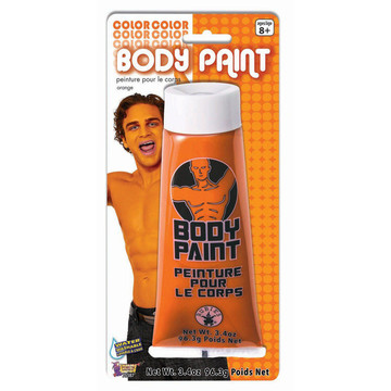 Orange Body Paint 3.4 Oz