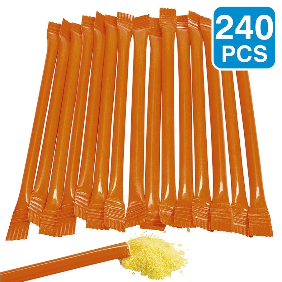 """View larger image of Orange Candy Filled 6"""" Straws (240 Pack)"""