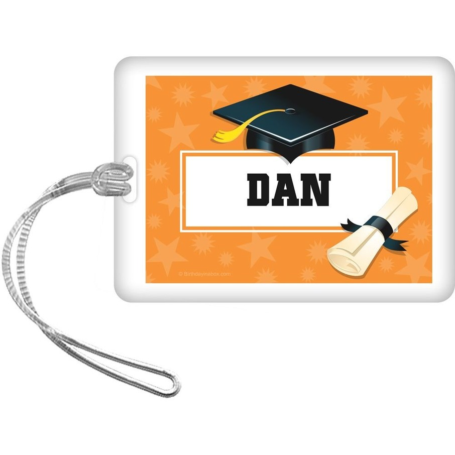 View larger image of Orange Grad Personalized Bag Tag (Each)