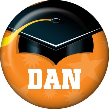 Orange Grad Personalized Mini Button (Each)