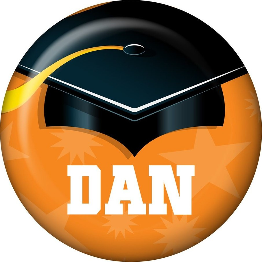 View larger image of Orange Grad Personalized Mini Magnet (Each)