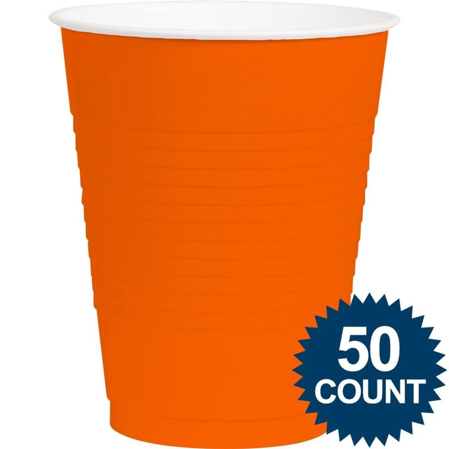 View larger image of Orange Plastic 16oz. Cup (50 Pack)