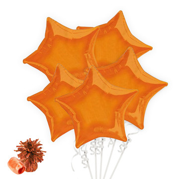 Orange Star Balloon Bouquet Kit