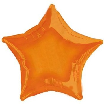 Orange Star Mylar Balloon (each)