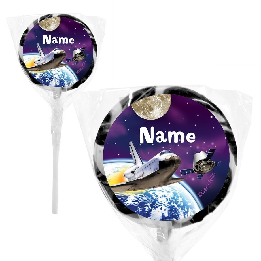 """View larger image of Outer Space Personalized 2"""" Lollipops (20 Pack)"""
