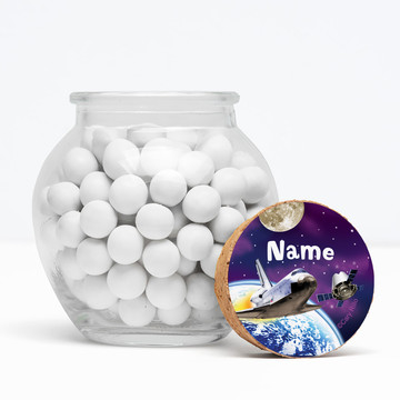 """Outer Space Personalized 3"""" Glass Sphere Jars (Set of 12)"""