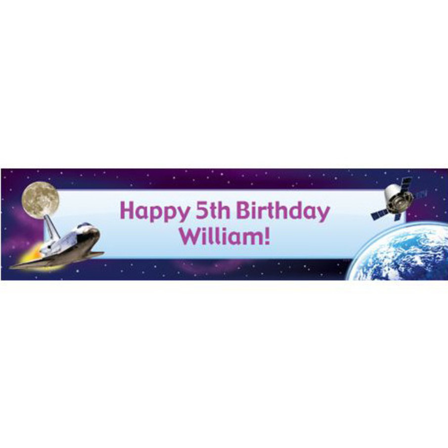 View larger image of Outer Space Personalized Banner (each)