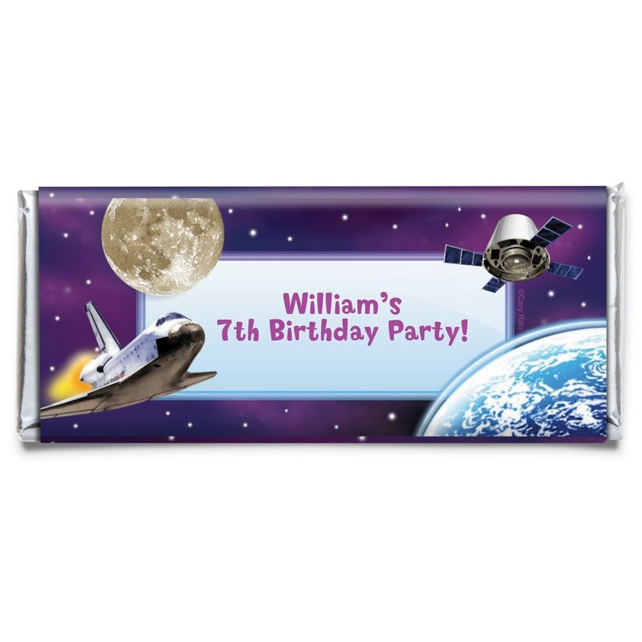 View larger image of Outer Space Personalized Candy Bar Wrapper (Each)