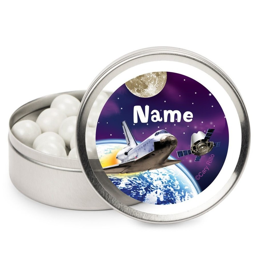 View larger image of Outer Space Personalized Candy Tins (12 Pack)