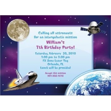 Outer Space Personalized Invitation (each)