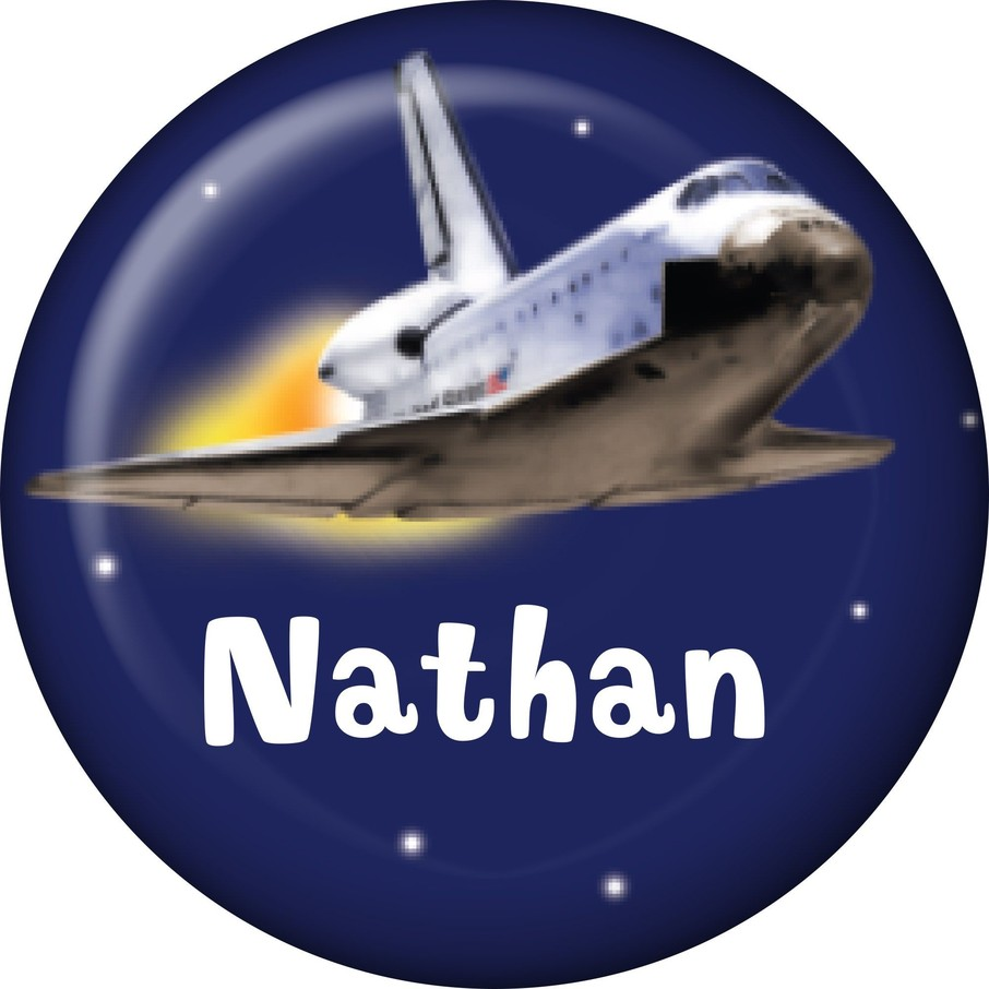 View larger image of Outer Space Personalized Mini Button (Each)