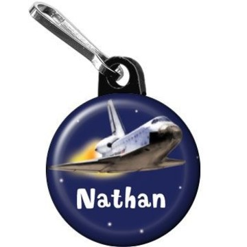 Outer Space Personalized Mini Zipper Pull (each)