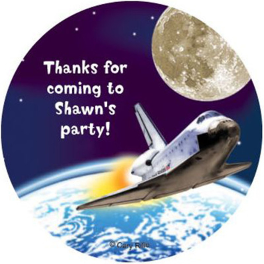 View larger image of Outer Space Personalized Stickers (sheet of 12)