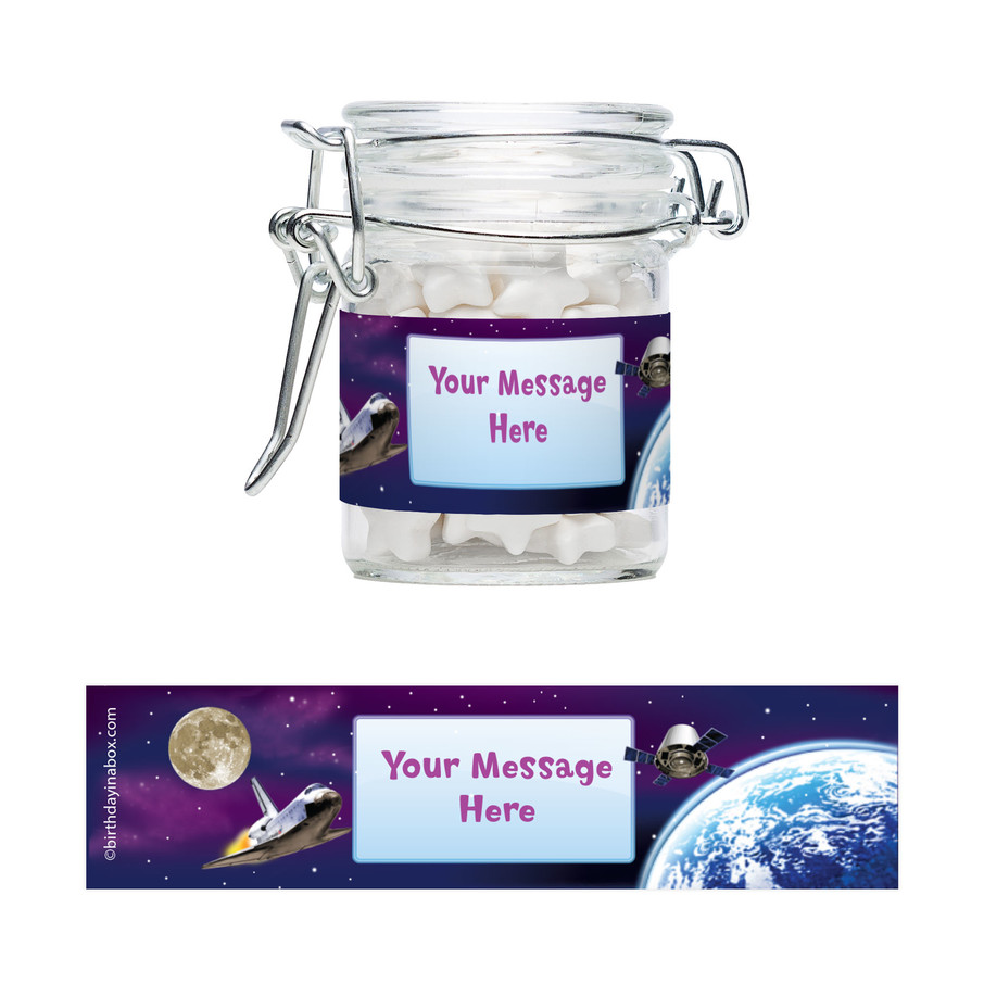 View larger image of Outer Space Personalized Swing Top Apothecary Jars (12 ct)