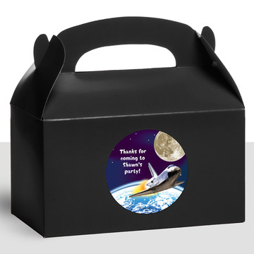 Outer Space Personalized Treat Favor Boxes (12 Count)
