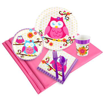 Owl Blossum 24 Guest Party Pack