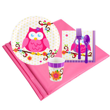 Owl Blossum 8 Guest Party Pack