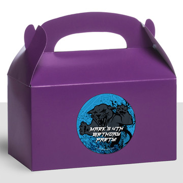 Panther King Personalized Treat Favor Boxes (12 Count)