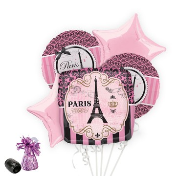 Paris Damask Balloon Bouquet Kit