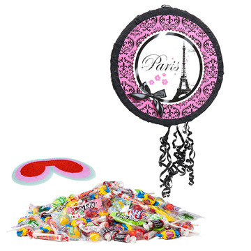 Paris Damask Drum Pull-String Pinata Kit